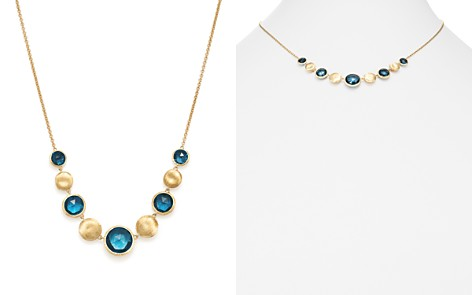 "Marco Bicego 18K Yellow Gold Jaipur Blue Topaz Collar Necklace, 16.5"" - Bloomingdale's_2"